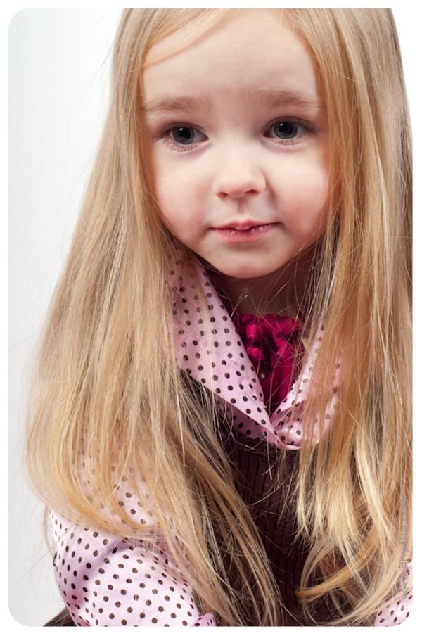 Cute Little Girl With Long Hair
