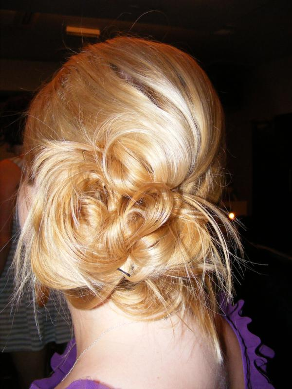 blonde messy bun 40 Gorgeous Easy Hairstyles For Long Hair