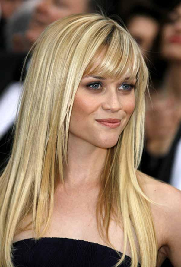 ... reese witherspoon in her long blonde hair layered for an elegant style