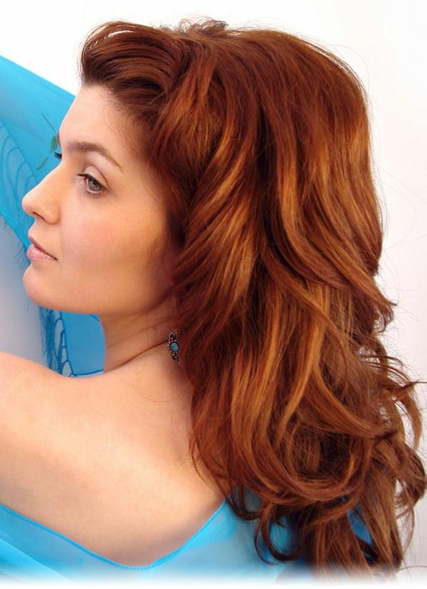 semi loose copper hair 40 Gorgeous Easy Hairstyles For Long Hair