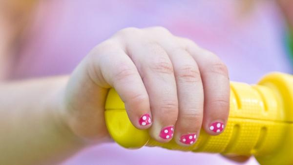 pink and white 40 Easy Nail Designs You Can Try Any Day