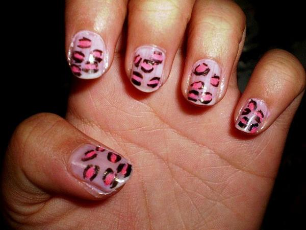 pink cheetah - Nail Design Ideas Easy