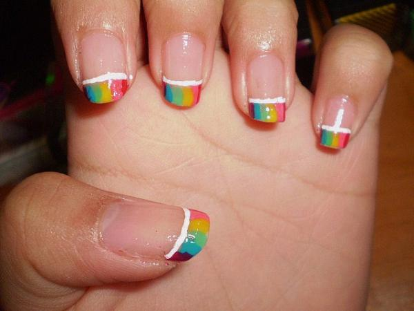 40 easy nail designs you can try any day slodive rainbow nail design prinsesfo Gallery