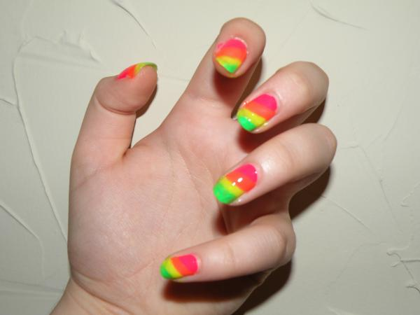 rainbow nails 40 Easy Nail Designs You Can Try Any Day