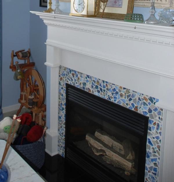 Fireplace Mantel And Mosaic