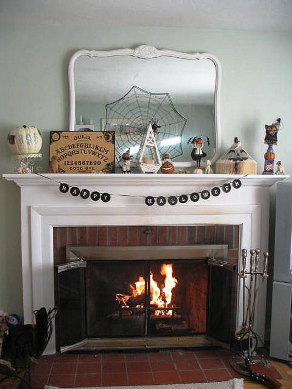 Halloween Mantel Display