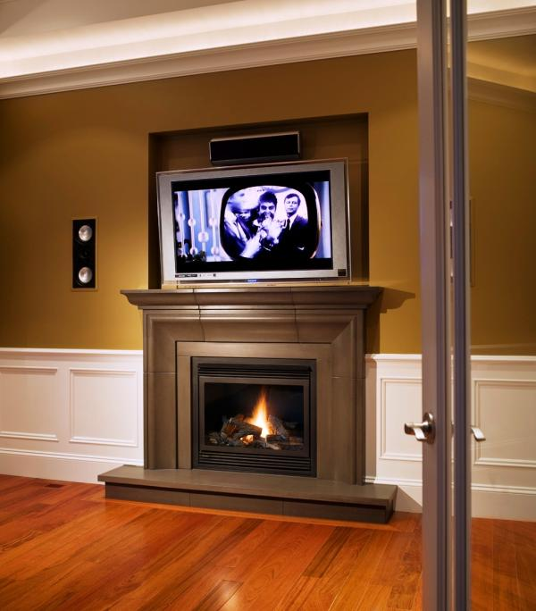 Shiitake Cast Concrete Fireplace Mantel