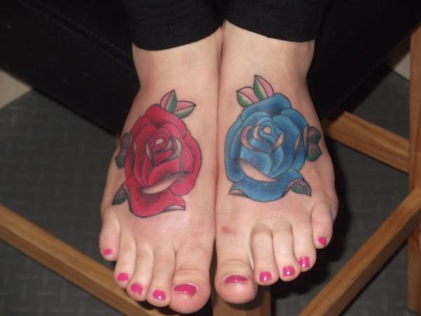 Red And Blue Rose