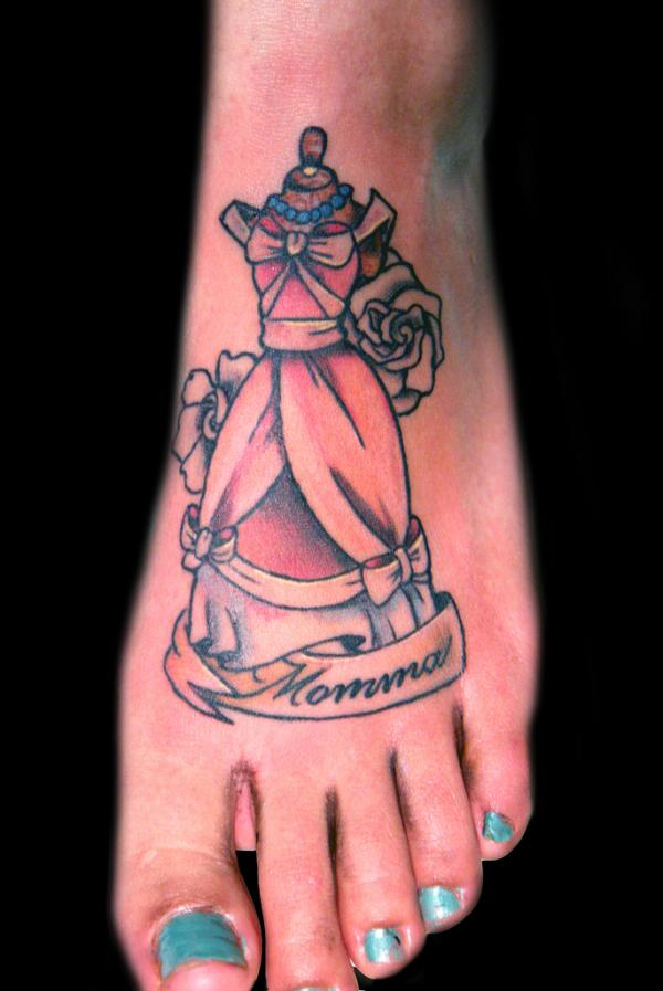 ciderella foot tattoo 35 Sexy Foot Tattoos For Girls