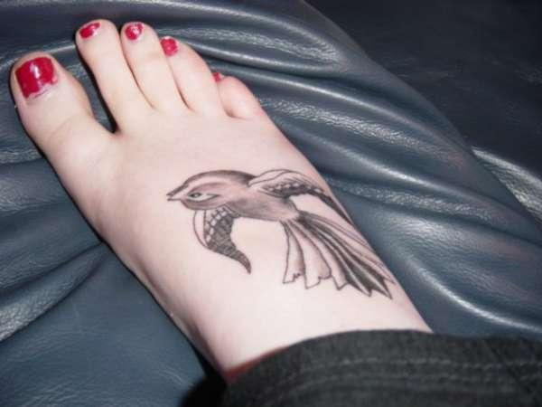 fantail on foot tattoo 35 Sexy Foot Tattoos For Girls