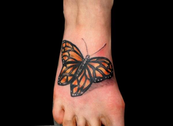 insect of doom 35 Sexy Foot Tattoos For Girls