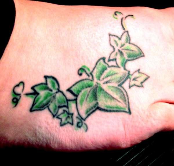 ivy on foot tattoo 35 Sexy Foot Tattoos For Girls