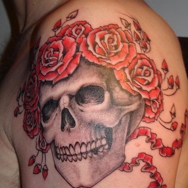 Skull Crowned With Roses