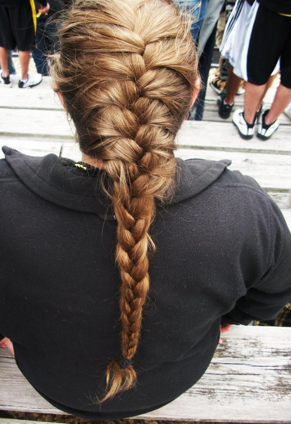 Blonde Hair French Braid