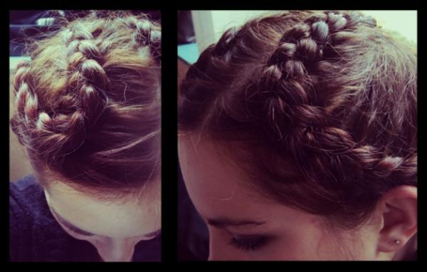Curled French Braid