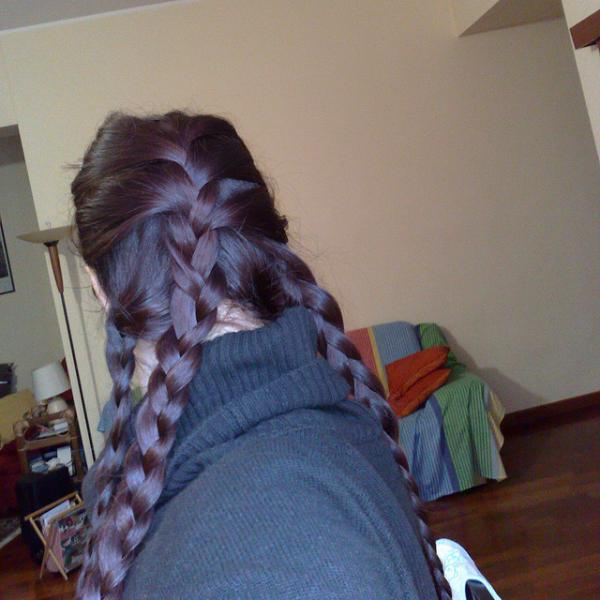 Half French Braid Two Side English Braid