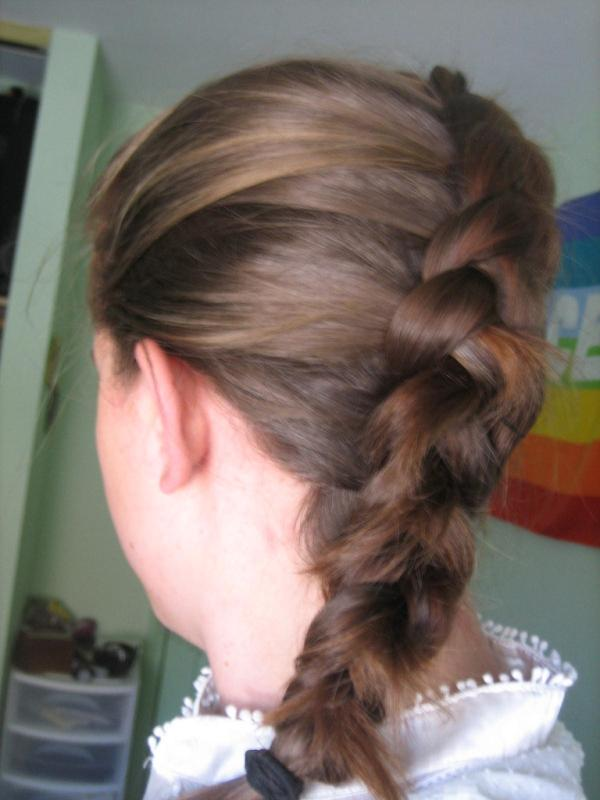 Inside Out Diagonal French Braid
