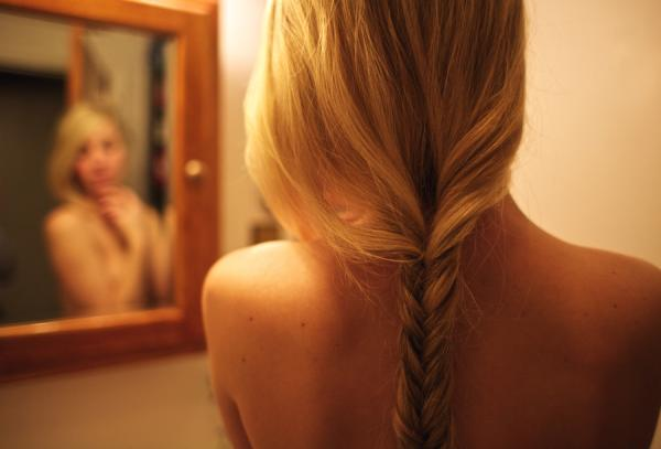Lower Head French Braided Hair