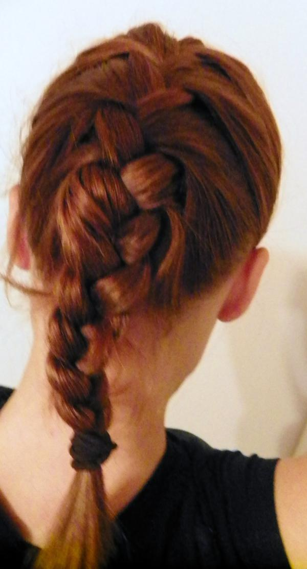 Red Hair French Braid