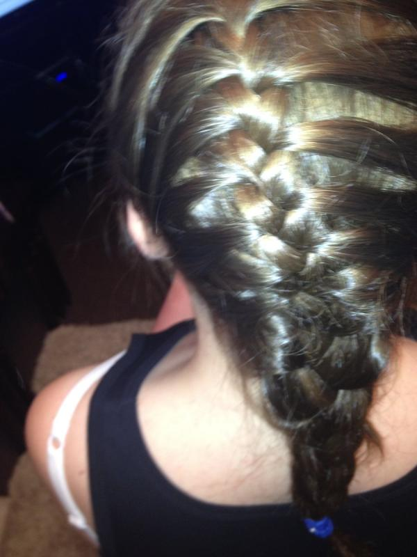 Short Hair French Braid