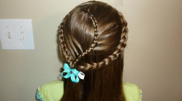 Triplet French Braided Hair