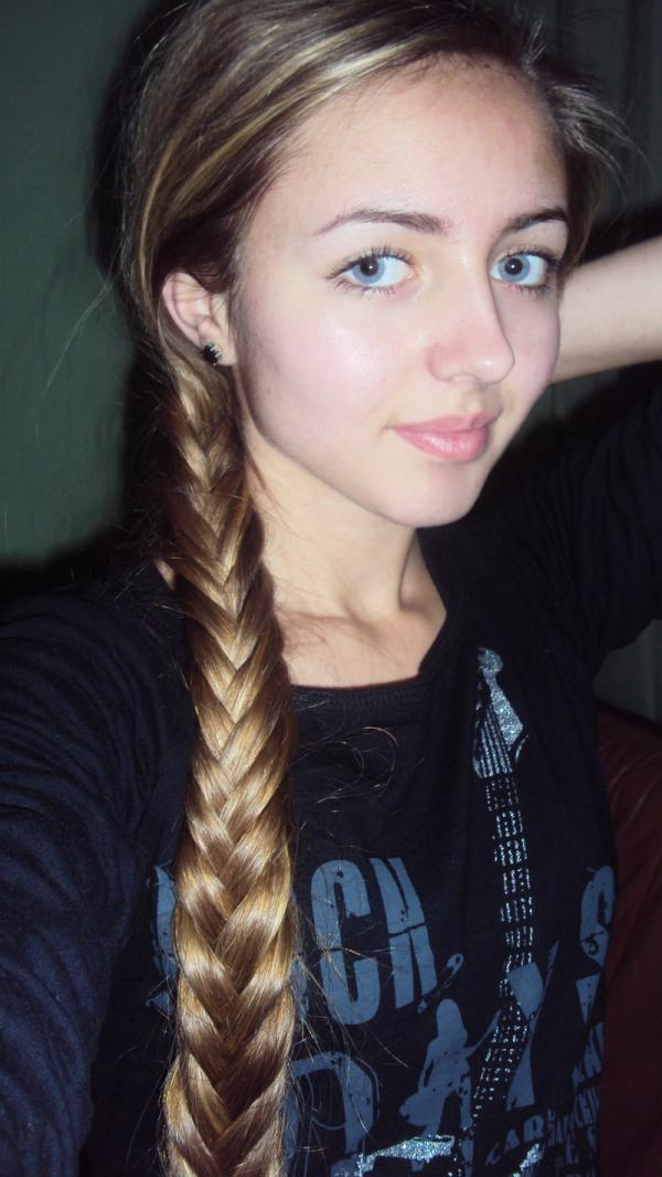 Very Long Hair French Braid