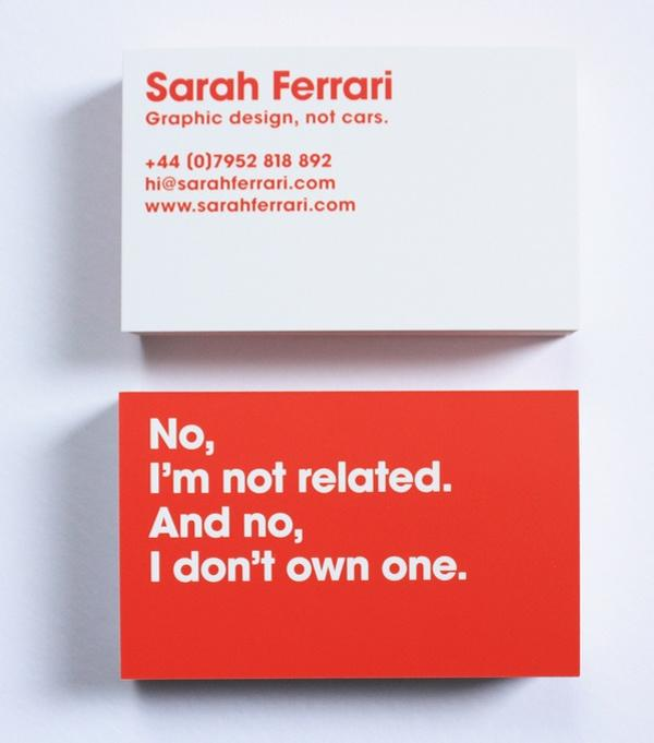 sarah ferrari 30 Funny Business Cards You Should Check Today