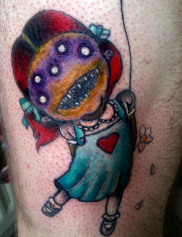 Creepy Little Girl Tattoo