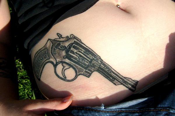 cool gun 30 Killer Gun Tattoos
