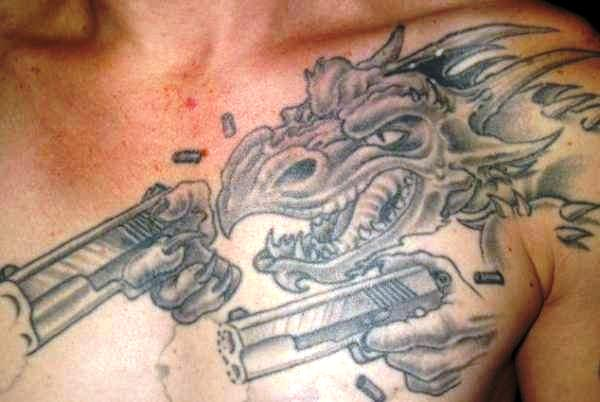 Dragon With Guns