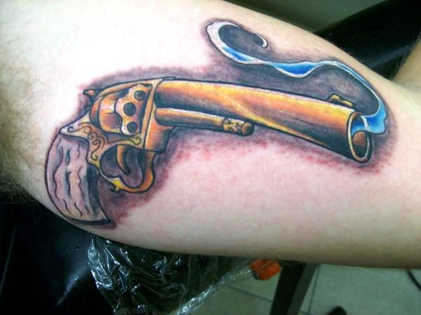 golden gun 30 Killer Gun Tattoos