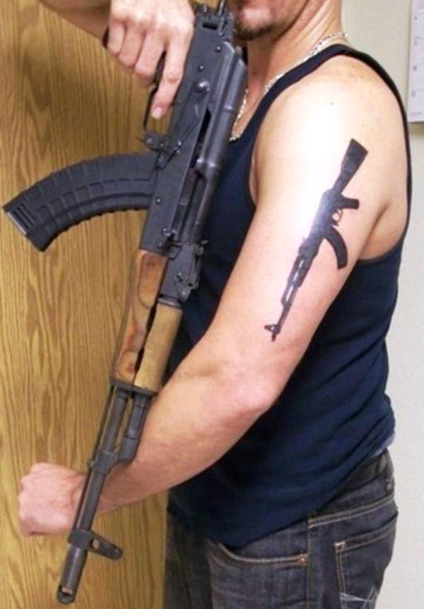 guns tattoos 30 Killer Gun Tattoos