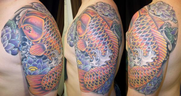 Golden Koi Half Sleeve Dallas Texas