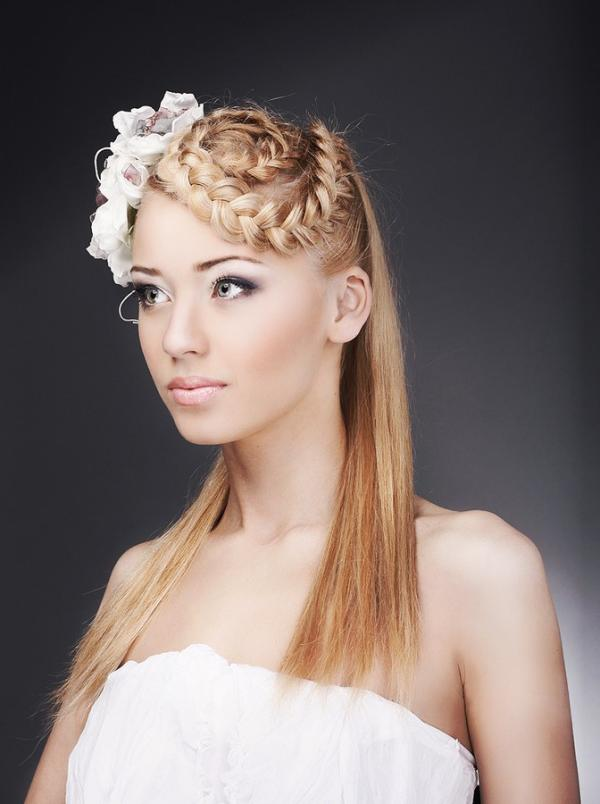 braided hairstyle 30 Beautiful Half Up Half Down Wedding Hairstyles