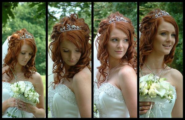 brown hair with crown 30 Beautiful Half Up Half Down Wedding Hairstyles