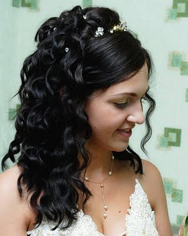 half up n half down hair 30 Beautiful Half Up Half Down Wedding Hairstyles