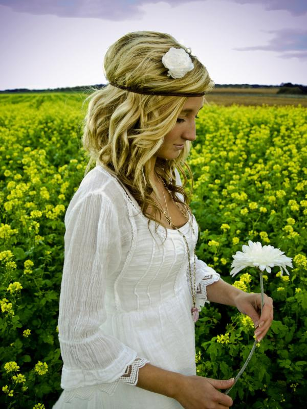 hippie bride 30 Beautiful Half Up Half Down Wedding Hairstyles