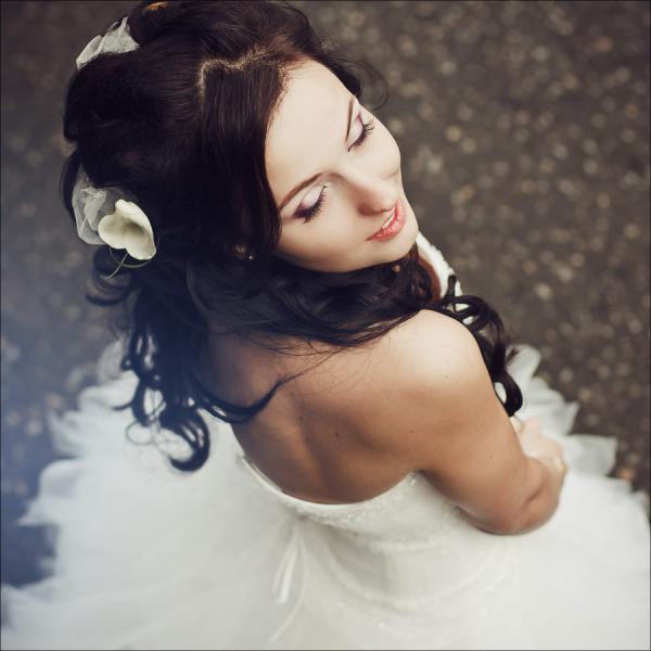 top view of decorated hair 30 Beautiful Half Up Half Down Wedding Hairstyles