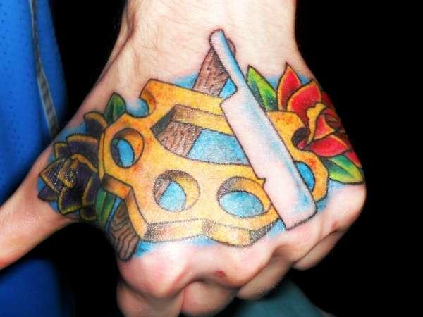 Knuckle Hand Tattoo