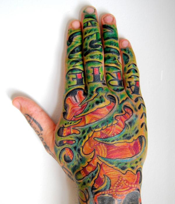 organic 40 Awesome Hand Tattoos