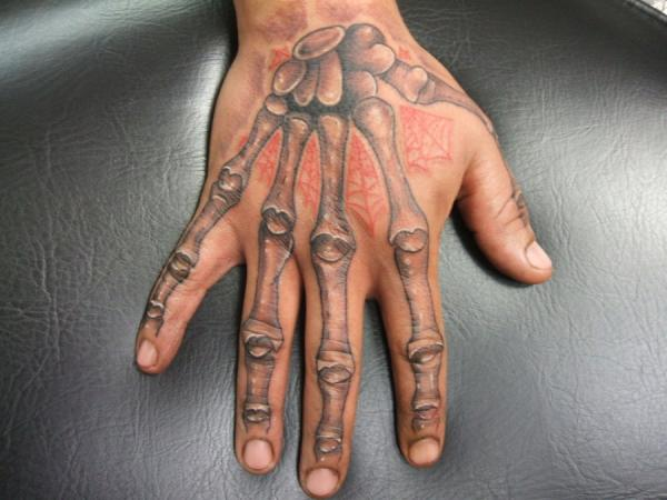 skeleton hand 40 Awesome Hand Tattoos