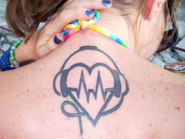 Electro Heart Tattoo