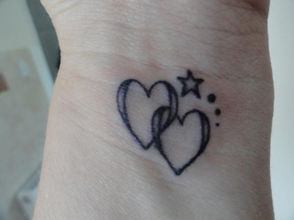 Twin Heart with Star