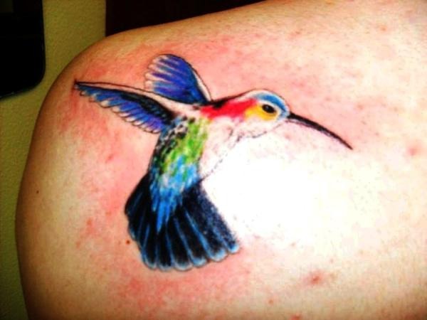 first hummingbird 35 Cool Hummingbird Tattoos