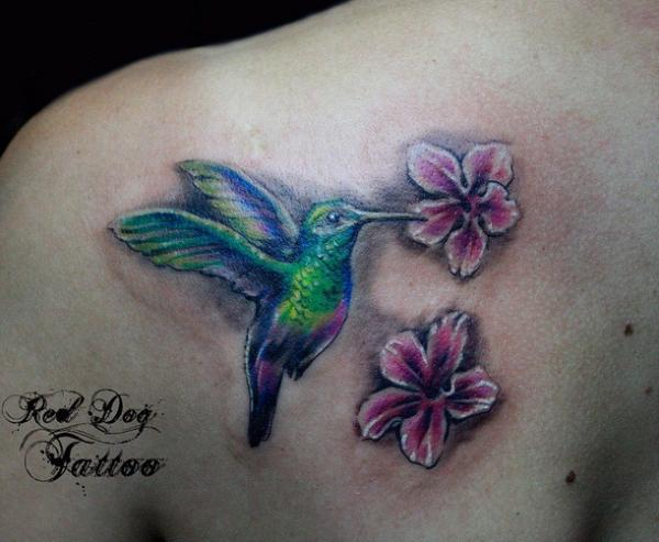 hummingbird done 35 Cool Hummingbird Tattoos