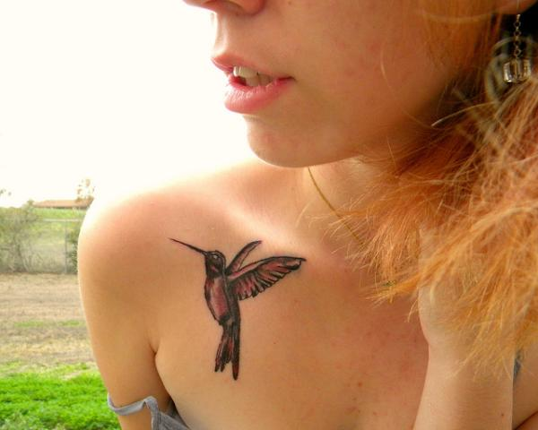 my shoulder bird 35 Cool Hummingbird Tattoos