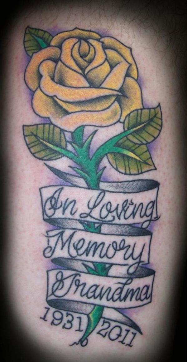 25 endearing in loving memory tattoos slodive for Memory tattoos pictures