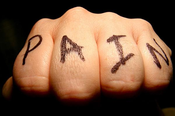 Pain Knuckle Tattoo