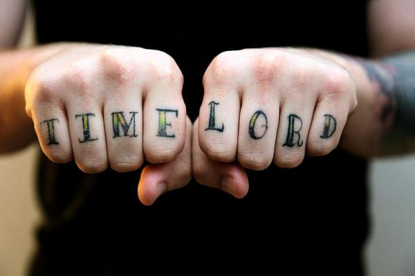 Time Lord Knuckle Tattoo