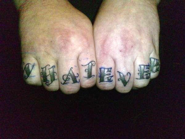 Whatever Knuckle Tattoo